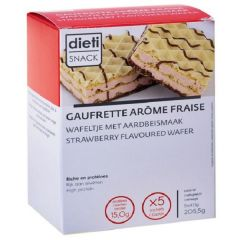 Dietisnack | proteïne Wafels | Aardbei | proteinerijk