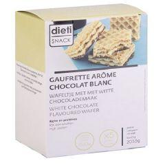 Dietisnack | proteïne Wafels | Witte Chocolade | proteinerijk