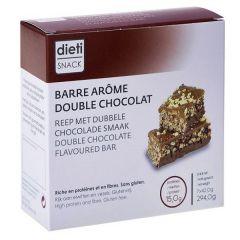 Dietisnack | proteïnereep | dubbele Chocolade | eiwitrijk