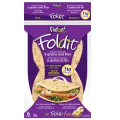 Flatout Foldit Flatbread 5 Grain and Flax | Eiwitrijk | Dieetwebshop.nl