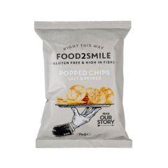 Food2Smile |Popped Chips Salt & Peper | Vezelrijke Chips