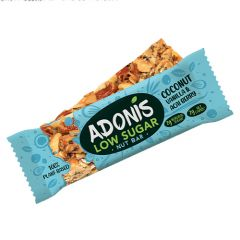 Ketogene reep | Adonis | Low Sugar Nut Bar | Coconut Vanilla & Acai Berry | Dieetwebshop.nl