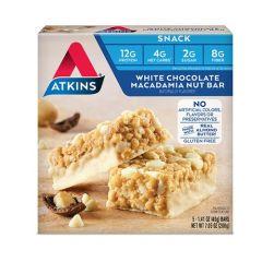 Eiwitrijke Atkins Reep | Snack bar | White Chocolate Macadamia Nut | Keto | Dieetwebshop.nl