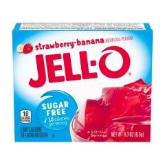Jello | Aardbei-Banaan pudding | suikervrij | Caloriearme pudding | Dieetwebshop.nl