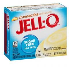 Suikervrij toetje | Jello | Cheescake pudding | suikervrij | Dieetwebshop.nl