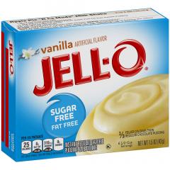 Jello | Vanille pudding | suikervrij | Dieetwebshop.nl