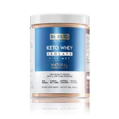 Be Keto | KETO Whey Natural Chocolate + MCT | 300 gram | Koolhydraatarm dieet