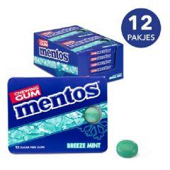 Sugar Free | Mentos Gum | Breeze Mint Blister |  Voordeeldoos | Dieetwebshop.nl