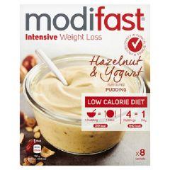 Modifast | Intensive (LCD 800) Pudding | Yoghurt Hazelnoot | Eiwitrijk | Dieetwebshop.nl