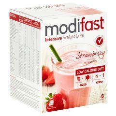 Modifast Intensive | Milkshake Aardbei | caloriearm | Dieetwebshop.nl