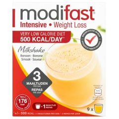Modifast Intensive | Milkshake Banaan | caloriearm | Dieetwebshop.nl