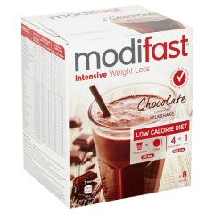 Modifast Intensive | Milkshake Chocolade | caloriearm | Dieetwebshop.nl