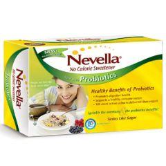 Caloriearm | Nevella | zoetmiddel 200 zakjes met probiotica | Dieetwebshop.nl