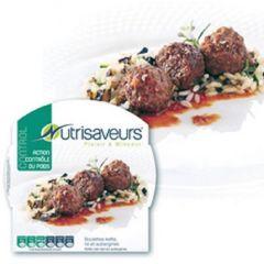 Caloriearm | Nutrisaveurs | Control | Runderballetjes (Kefta) Met Rijst En Aubergines | Dieetwebshop.nl