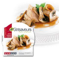 Eiwitrijke maaltijd | Nutrisaveurs | Starter|  Kipfilet Met Champignons In Room | Dieetwebshop.nl