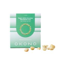 OKONO | Vegan | White Chocolate Macadamia Nuts | zonder suiker