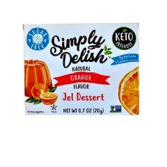 Sugar Free | Simply Delish | Naturel Jelly dessert | Orange | Dieetwebshop.nl