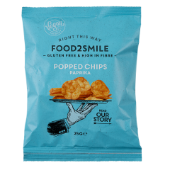 Food2Smile | Popped Chips Paprika | Eiwitrijke Chips