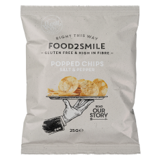 Food2Smile |Popped Chips Salt & Peper | Vezelrijke Chips