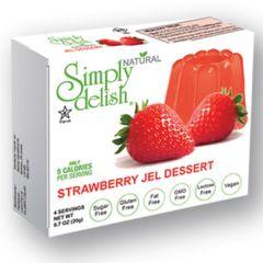 Suikervrij | Simply Delish | Naturel Jelly dessert | Aardbei | Dieetwebshop.nl