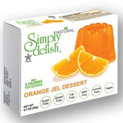 Sugar Free | Simply Delish | Naturel Jelly dessert | Orange | Dieetwebshop.nl