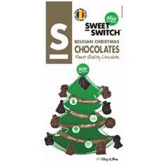 Suikerverlaagde chocolade |  SWEET-SWITCH | Belgische Kerst Chocolade | Dieetwebshop.nl