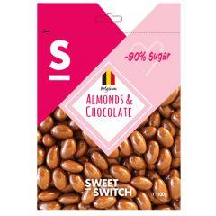 Sweet Switch | Amandelen & Chocolade 100g | Sugar Reduced | Dieetwebshop.nl