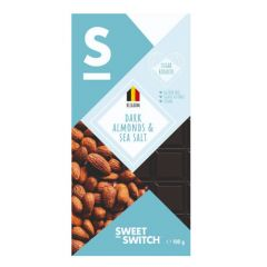 Sweet Switch | Dark Chocolate Almonds & Seasalt 100g | Low Carb | Dieetwebshop.nl