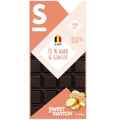 Low Carb | Sweet Switch | Tablet 70% Pure Chocolade & gember | Dieetwebshop.nl