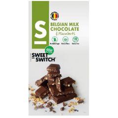 Sweet Switch | Tablet Melkchocolade & Hazelnoten 100g | Low Carb | Dieetwebshop.nl