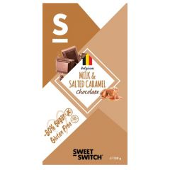 Sweet Switch | Tablet Milk & Salted Caramel Chocolate 100g | Low Carb | Dieetwebshop.nl