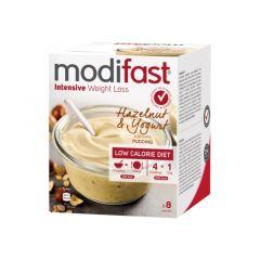 Caloriearm | Modifast | Intensive  Pudding | Yoghurt Hazelnoot |