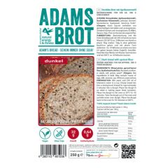 Sugar Free   Adam's Bread   Dark   Donkere Broodmix 3.0   Dieetwebshop.nl