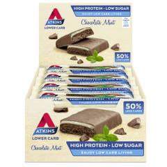 Atkins   Chocolate Mint Bar   Doos   Eiwitrijke Reep   Dieetwebshop.nl