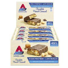 Atkins | Chocolate Peanut Caramel | Doos | Caloriearm | Ketogeen | Dieetwebshop.nl
