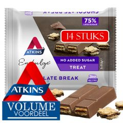 Atkins   Endulge   Chocolate Break   Doos   Low Carb   Dieetwebshop.nl