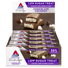 Atkins | Endulge | Chocolate Coconut Reep | Voordeeldoos | Keto Reep | Dieetwebshop.nl