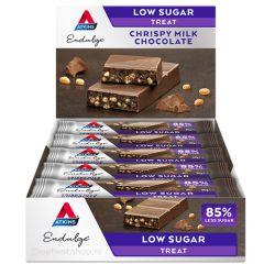 Keto Reep | Atkins | Endulge | Crispy Milk Chocolate | Doos | Dieetwebshop.nl