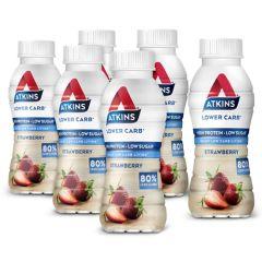 Atkins   RTD Strawberry   Tray   Caloriearme Shake   Dieetwebshop.nl