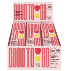 GOOD TO GO   Framboos Citroen Snackbar   Doos   Suikervrij   Dieetwebshop.nl