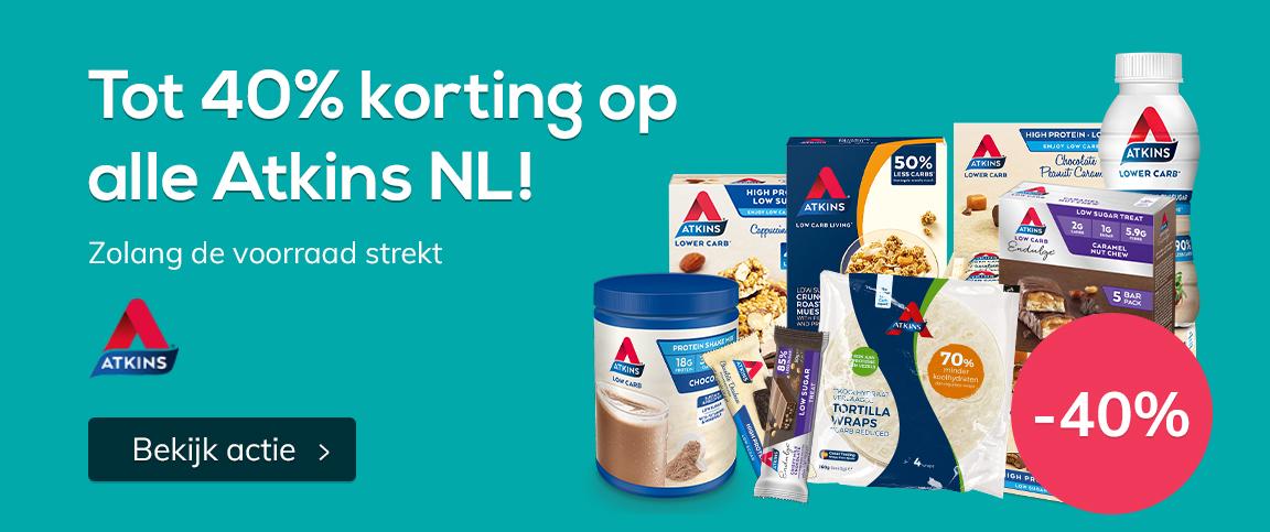 Tot 40% korting op alle Atkins NL!